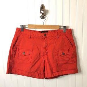 Banana Republic Orange Cargo Shorts Women's Size 8